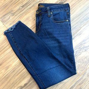 Kut from the Kloth raw hem skinny jeans, size 8